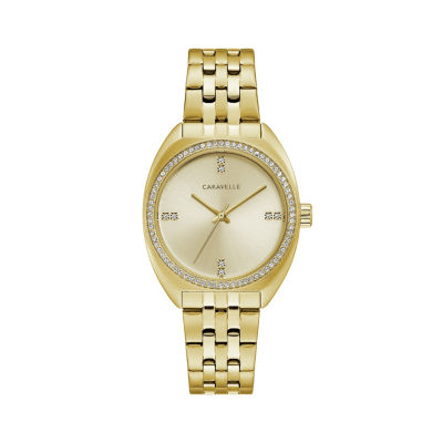 Caravelle Womens Gold Tone Bracelet Watch-44l250