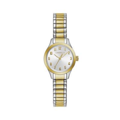 Caravelle Womens Two Tone Bracelet Watch-45l177