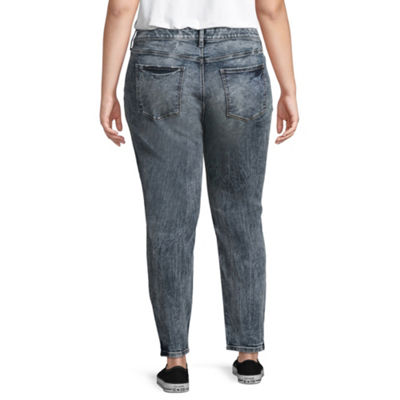 Arizona Acid Wash Jeggings-Juniors Plus