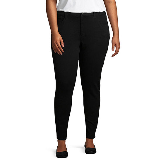 Arizona High Rise Jegging-Juniors Plus