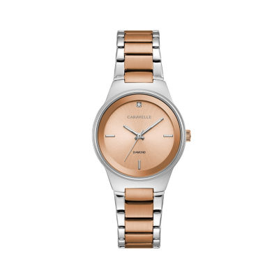 Caravelle Womens Two Tone Bracelet Watch-45p109