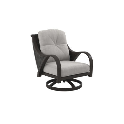 Outdoor by Ashley® Marsh Creek Set of 2 Swivel Patio Lounge Chairs with Cushions