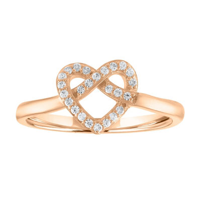 Womens Diamond 10K Gold Cocktail Ring