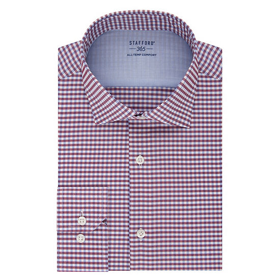 Stafford Men's Fitted 365 All-Temp Flex Collar Wrinkle Free Dress Shirt