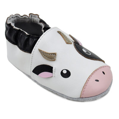 Momo Baby Unisex Soft Sole Leather Shoes - Cow