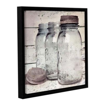 Vintage Jars II Floater-Framed Gallery Wrapped Canvas