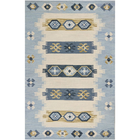 Lisbon Laguna Hand Tufted Rectangular Rugs & Runner