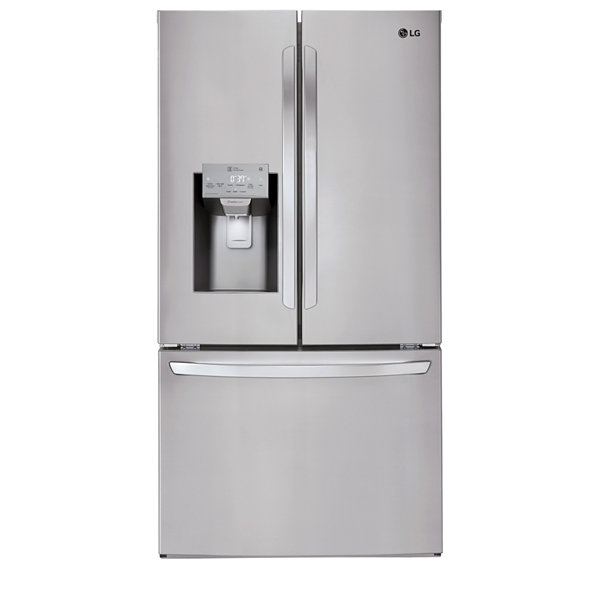 LG ENERGY STAR® 26.2 cu. ft. Smart Wi-Fi Enabled 3-Door French Door Refrigerator
