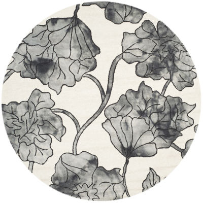 Safavieh Dip Dye Collection Erksine Floral Round Area Rug