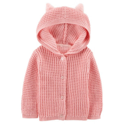 Carter's Little Baby Basics Hooded Cardigan - Baby Girls