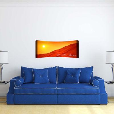 Metal Wall Art Home Decor Silence 48x19 HD Curve