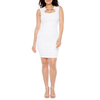 Premier Amour Sleeveless Applique Sheath Dress