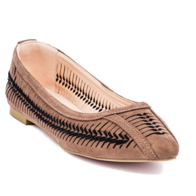 GC Shoes Womens Amar Ballet Flats Slip-on Pointed Toe