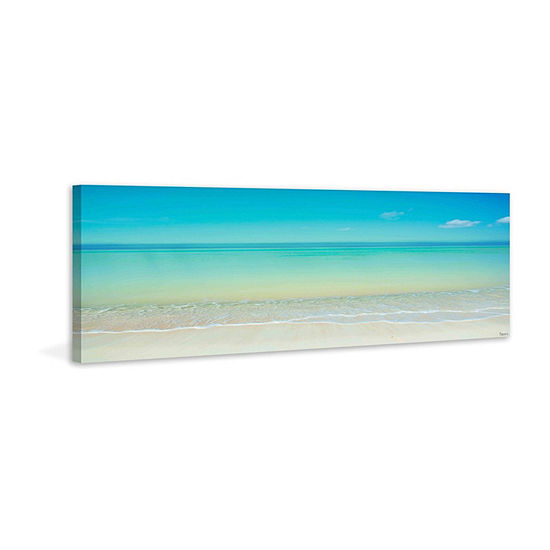 Scenic Beach Painting Print on Wrapped Canvas