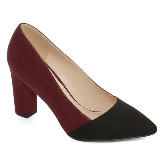 Liz Claiborne Womens Lc Agnes Pumps Pull-on Pointed Toe Block Heel