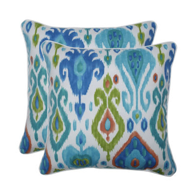 Pillow Perfect Paso Caribe Set of 2 18.5-Inch Outdoor Throw Pillows