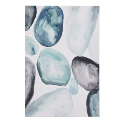 Madison Park Pebbles Hand Embellished Canvas