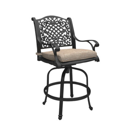 Outdoor by Ashley® Rose View Set of 2 Patio Barstools with Cushions