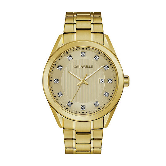 Caravelle Mens Yellow Bracelet Watch-44b125