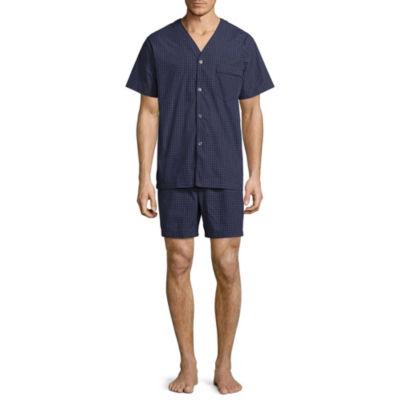 Stafford V-Neck Short Sleeve/ Short Leg Pajama Set - Big and Tall