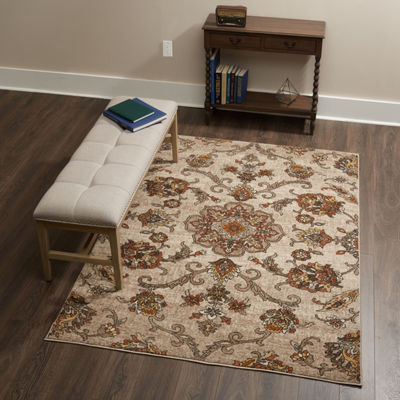 Home Dynamix Tremont Laurel Floral Rectangular Rug