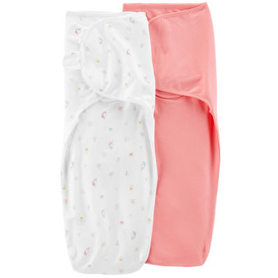 Carter's 2 Pack Baby Soft Easy Swaddles - Girls