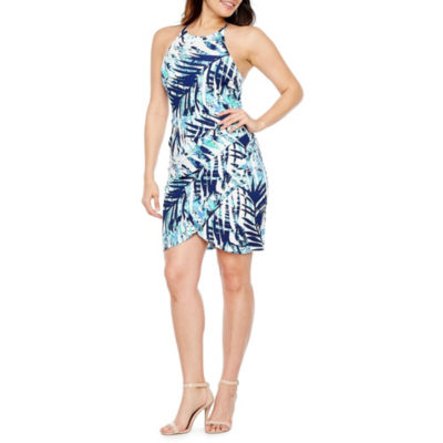 Premier Amour Sleeveless Pattern Sheath Dress