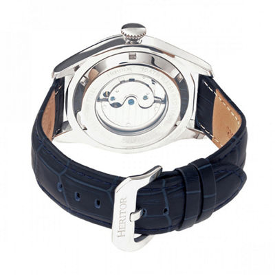 Heritor Unisex Blue Strap Watch-Herhr7102