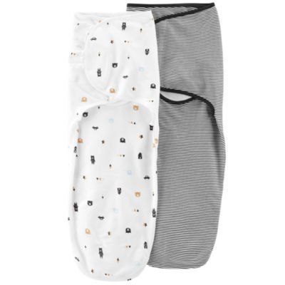 Carter's 2 Pack Babysoft Easy Swaddles - Boys