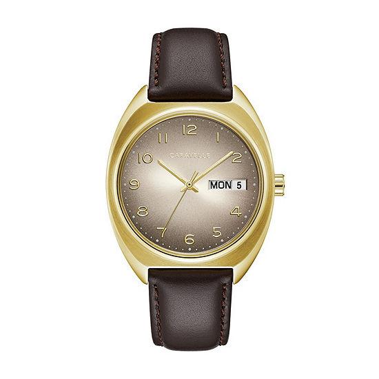 Caravelle Mens Brown Bracelet Watch-44c109