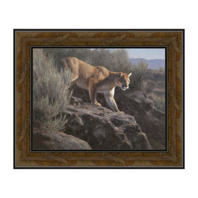 Into The Gorge Framed Canvas Art
