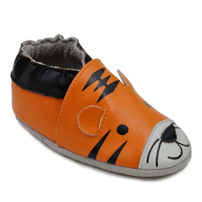Momo Baby Boys Soft Sole Leather Shoes - Tiger