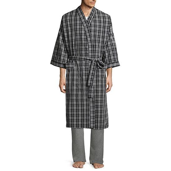 Stafford Men's Broadcloth Kimono Robe - Big