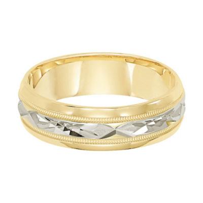 Unisex 6mm 14K Gold Wedding Band