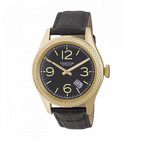 Heritor Unisex Black Automatic Strap Watch-Herhr7104