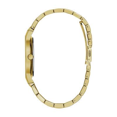 Caravelle Mens Gold Tone Bracelet Watch-44d100