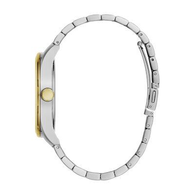 Caravelle Mens Two Tone Bracelet Watch-45b154