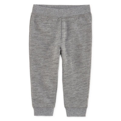 Okie Dokie Solid French Terry Jogger Pants - Baby Boy NB-24M