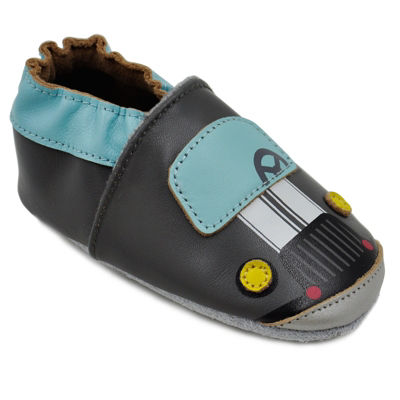 Momo Baby Boys Soft Sole Leather Shoes - Car