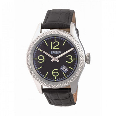 Heritor Unisex Black Strap Watch-Herhr7103