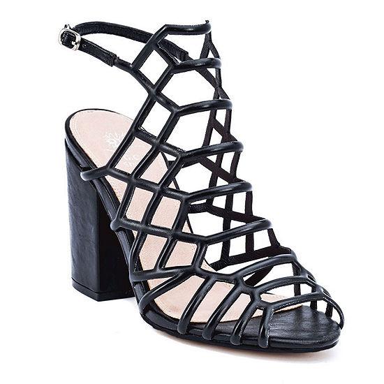 Gc Shoes Womens Camila Pumps Buckle Peep Toe Block Heel