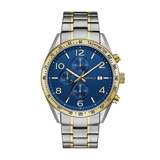 Caravelle Mens Two Tone Stainless Steel Bracelet Watch-45b152