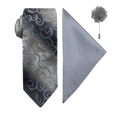 JF J.Ferrar Scroll Tie Set