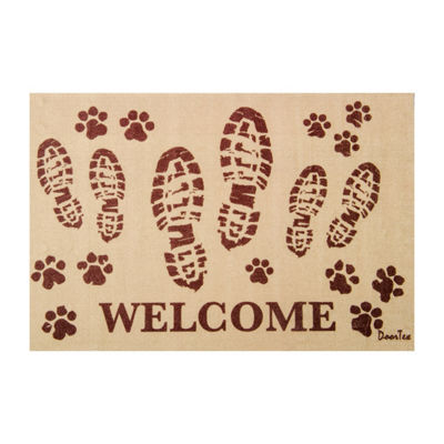 Doortex Indoor Rectangular Entrance Welcome Mat with Bootprint Design
