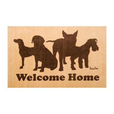 Doortex Indoor Rectangular Entrance Mat Welcome Mat with Dog Design