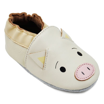 Momo Baby Unisex Soft Sole Leather Shoes - Piggy