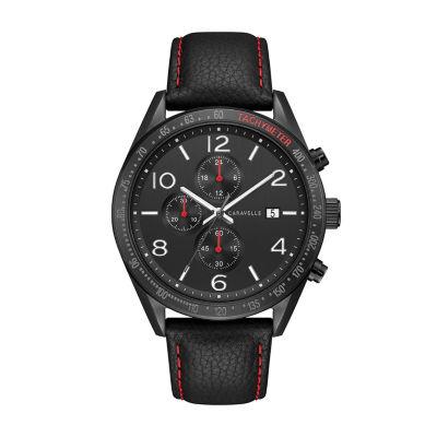 Caravelle Mens Black Bracelet Watch-45b153