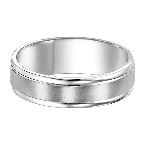 Unisex 6MM Platinum Wedding Band