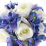 Pure Garden Hydrangea And Rose Artificial Floral Arrangement