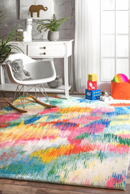 nuLoom Surreal Canvas Raye Shaggy Rug
